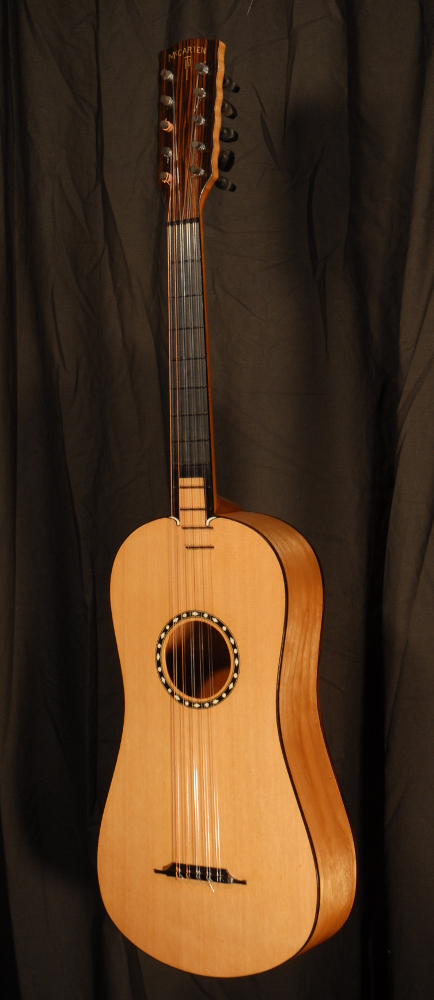 front view of michael mccarten's 10 string baroque guitar model