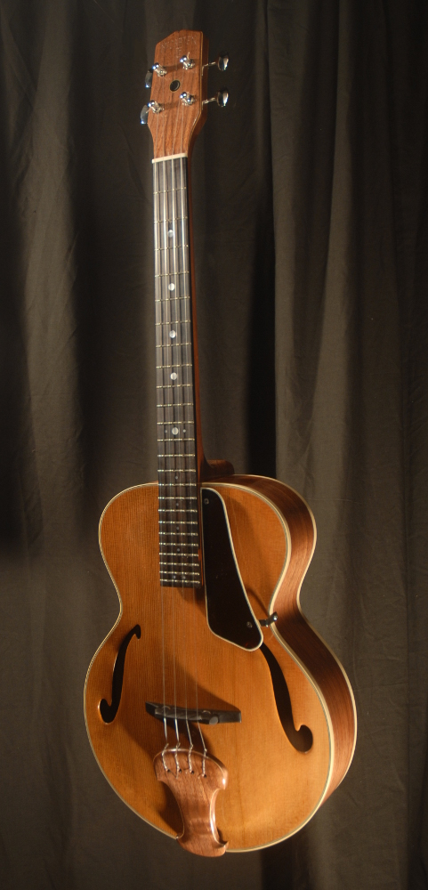 front view of michael mccarten's archtop baritone ukulele model