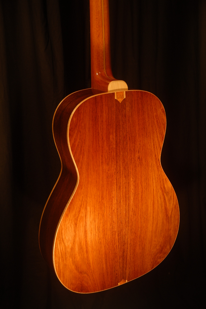 rear view of the body of michael mccarten's 000-12 flat top guitar model