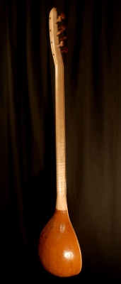 front view of the body of michael mccarten's gourd body baglama saz