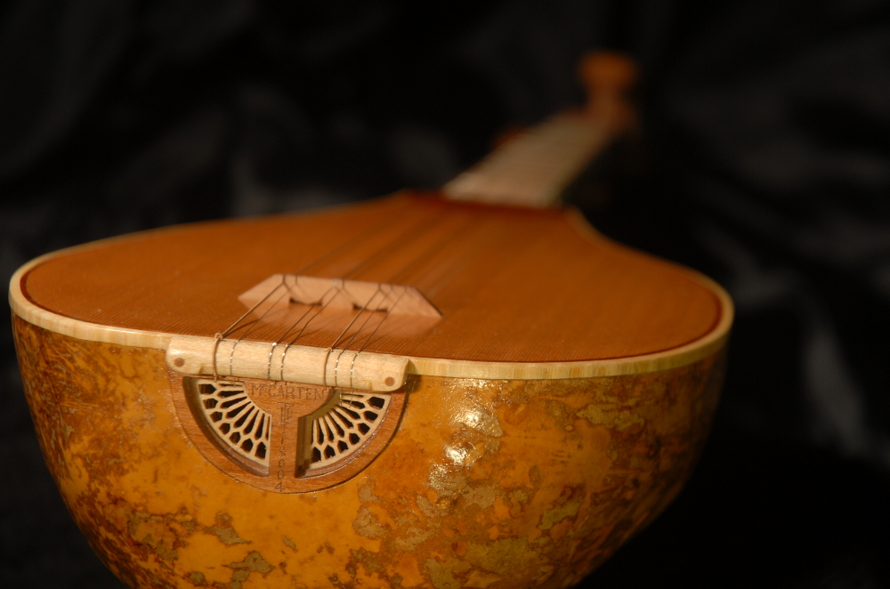 rear view of the body of michael mccarten's gourd body curza saz