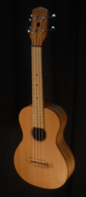 full front view of the body of michael mccarten's Concert flat top ukulele model