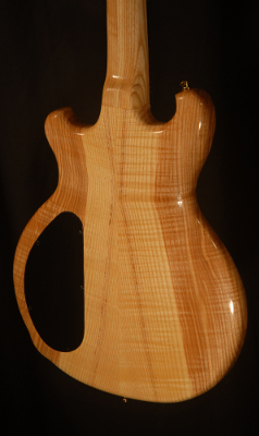 rear view of the headstock of michael mccarten's DC13T double cutaway electric guitar model